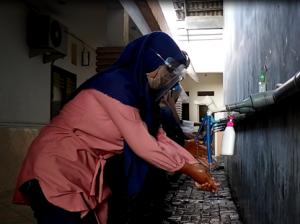 Tempat Cuci Tangan Untuk Siswa Siswi